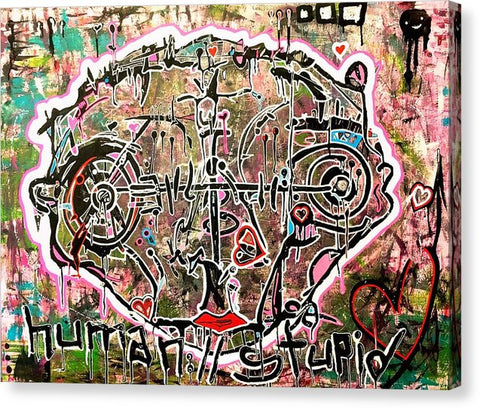 Aeqea Human Stupid - Abstract Expressionism Street Art Painting Canvas Art Print