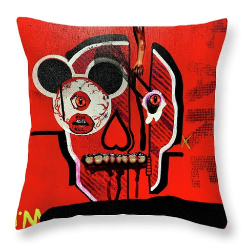 Kiss Me Kill Me Throw Pillow