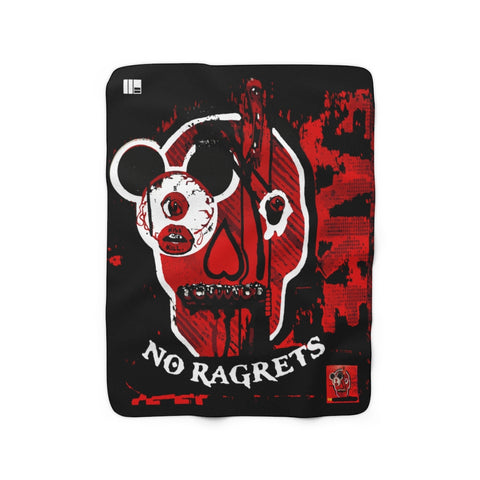 Kiss Me, Kill Me, No Ragrets Fleece Blanket