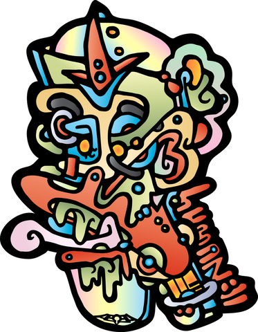 AEQEA Bug Tongue Abstract Sticker