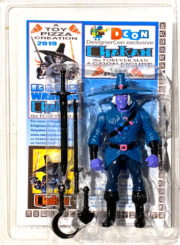 Toy Pizza Chakan Blue Warrior RAK Edition Forever Man Action Figure SEGA Glyos System Compatible