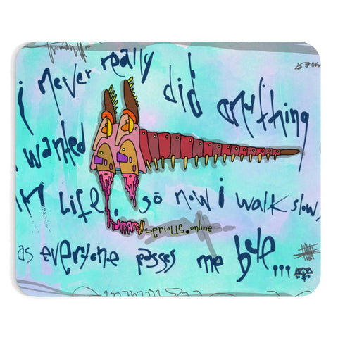 AEQEA Too Many Legs Walk Slow Neoprene Mousepad Rig Mat