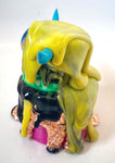 Upcycled Blue Eye Horned Golden Flake Slime Monster Cyclops by Daisy Ravenfield