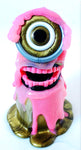 Upcycled Pink Slime Monster Cyclops by Daisy Ravenfield