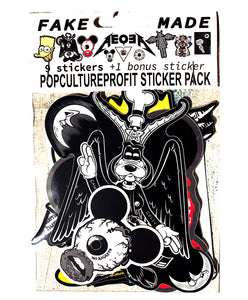 DELUXE Pop Culture Profit sticker pack! (9 stickers +freebie)