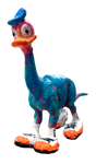 Donald is having a great day today (Easy Monday by AEQEA) Donald Duck Dinosaur art toy mashup bootleg knockoff custom outsider artist figure