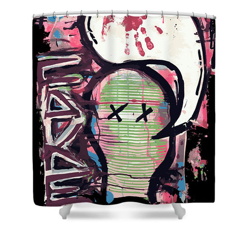 Fake Face - Shower Curtain