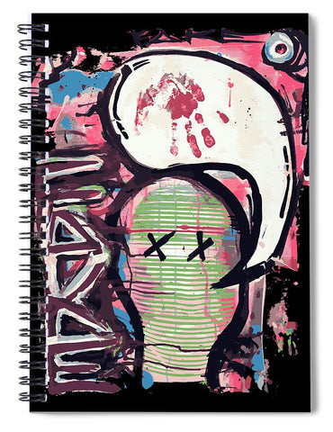 Fake Face - Spiral Notebook