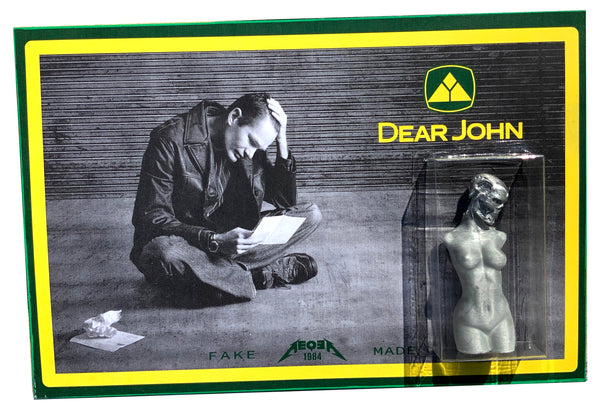 Dear John FAKE MADE 1984 parody knockoff bootleg art toy custom carded 3D pla mashup