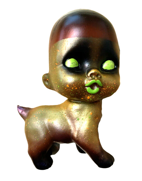 Grody Shogun Monster Baby Puppy Sofubi Custom Painted Zombie Dog Baby Japanese Vinyl Art Toy