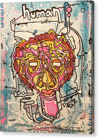 Aeqea Guilty - Abstract Street Art Urban Expressionism Canvas Art Print