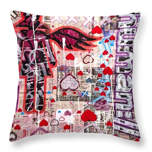 Aeqea Heartdrops - Throw Pillow