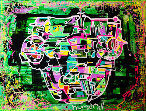 Thought Crimes acrylic on canvas original painting by AEQEA