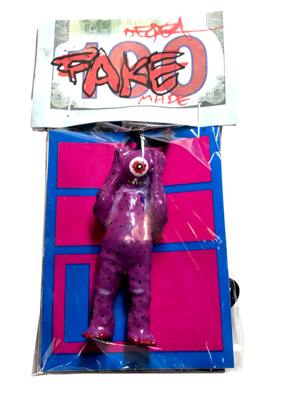 AEQEA Fake Made OENUN Pharmy Purp Dino Vitamin Kaiju Custom Pendant Toy Art Necklace