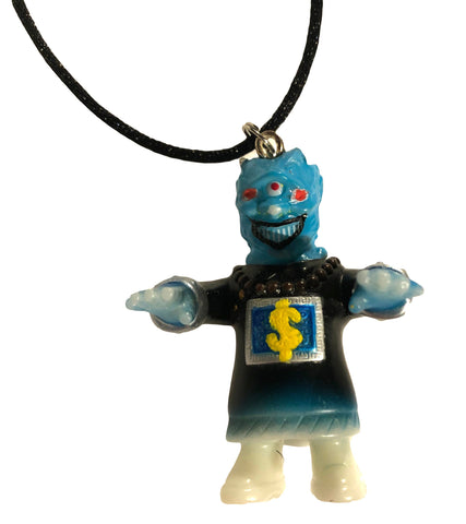 Money Hungry Custom MVH x Shikamark Vinyl Artist Gacha Sofubi Remix VAG Kaijuwelry Pendant Necklace Mashup by AEQEA