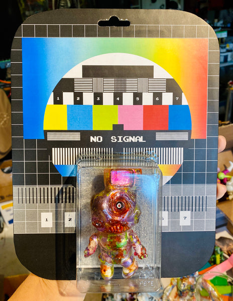 The Something Will Not Be Televised Phobia Toys tV hEaD Sofubi Carded and Customized by AEQEA