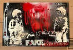 "AEQEA ""Ok, Deal. Fake Everything (then fake handshake)"" original painting on wood panel"