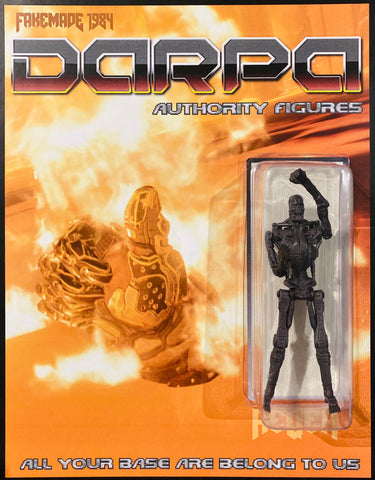 FAKEMADE1984 DARPA T-800 Endoskeleton Terminator 2 Judgement Day T2 Action Figure Custom Toy Art Re-Package by AEQEA