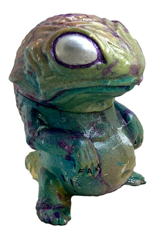 Snybora Aftermath Custom Lake Monster from the Midwest Sofubi Lizard Painted by AEQEA