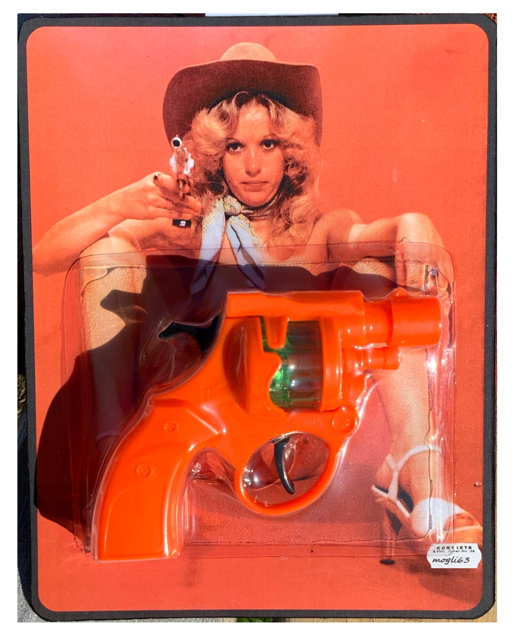 "FAKEMADE1984 ""Bang Gang' aka""Don't Jerk Off, Just Work Out"" AEQEA bootleg retro anti-pornography art toy gun"