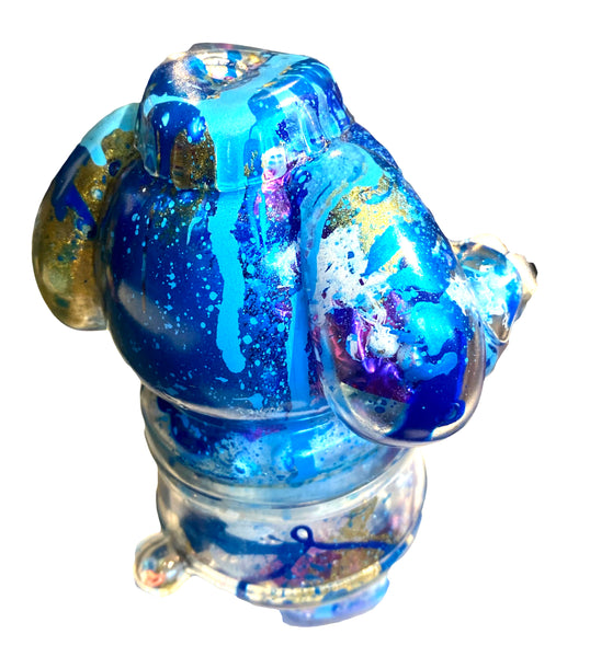 Updog Clear With Guts Sofubi Dog Soft Vinyl Art Toy Prototype Customized by AEQEA