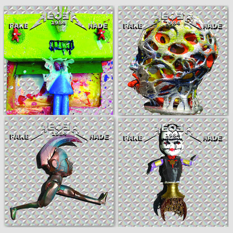 "AEQEA ""Truths & Dares"" hologram sticker pack of four (4) holographic 2x2 sticker art prints"