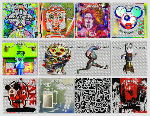 Holographic Universe Sticker Pack of 12 Sticker Art Prints by AEQEA