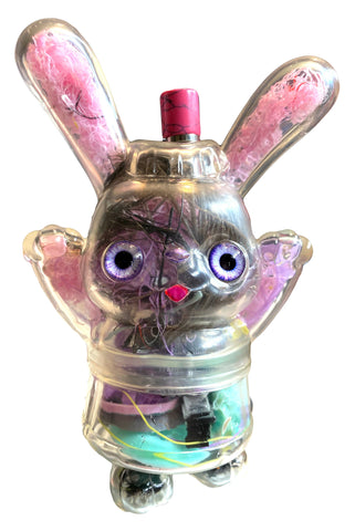 AEQEA I'm not a bong mom! Customized Sofubi Clear With Guts Poplife Prototype Soda Pop Bunny Rabbit