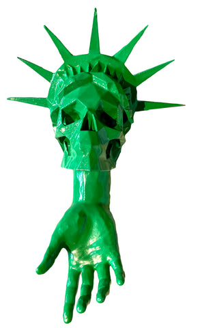 AEQEA My country tis a dream, hand jobs of liberty, outsourcing VIP... OOAK statue mashup