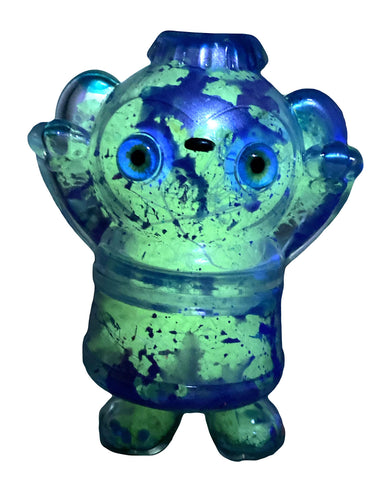 Salvia Dream Machine Backwards Dog AEQEA Custom Sofubi Clear w/ Guts GID Poplife Soda Deigner Toy Vinyl Figure