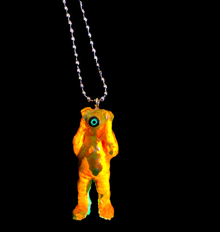 Orange You Glad You Rad? OENUN custom resin kaijuwelry resin art toy pendant by AEQEA