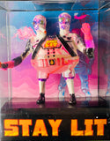 Stay Lit Patrol custom bootleg resin kitbash mashup AEQEA art toy figure