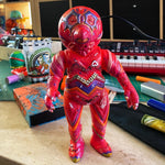 Aliens Guts Sofubi Bear Model Kaiju Customized by AEQEA
