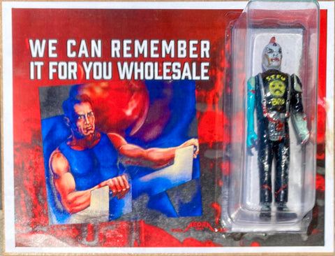 "AEQEA x RutRo Toys ""We Can Remember It For You Wholesale"" Philip K Dick bootleg parody cyberpunk art toy"