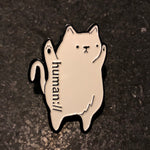 human:// Shmeow Kitty Cat Hat Pin Lapel Locking Back Hat Pins