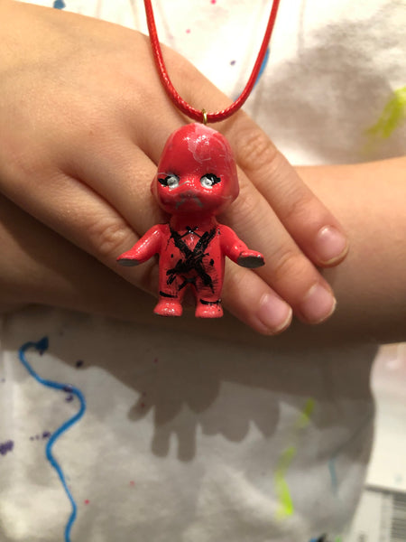 AEQEA Sofubling Custom Kewpie Pendant Sofubi Doll Necklaces