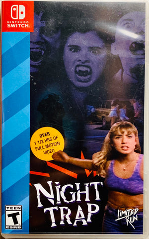 Limited Run #8 Night Trap 25th Anniversary Switch Game Nintendo Interactive Horror Movie