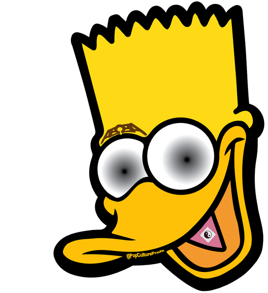 PopCultureProfit Bratman Duck Simpson Tab Edition Pop Art Streetwear Sticker