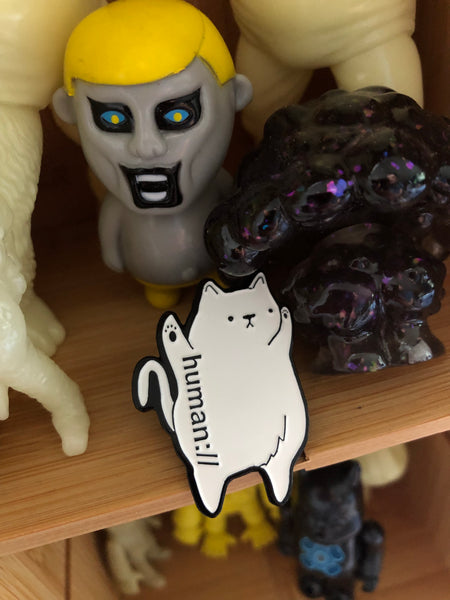Human:// Shmeow Kitty Pin White Edition of 111