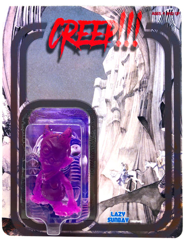 Lazy Sunday Creatures Creep!!! Glowing Resin Toy Art Figure on Custom Card