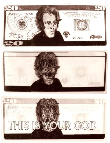 They Live This is Your God Magic Screen Money Magnet Lenticular Flicker Dollar