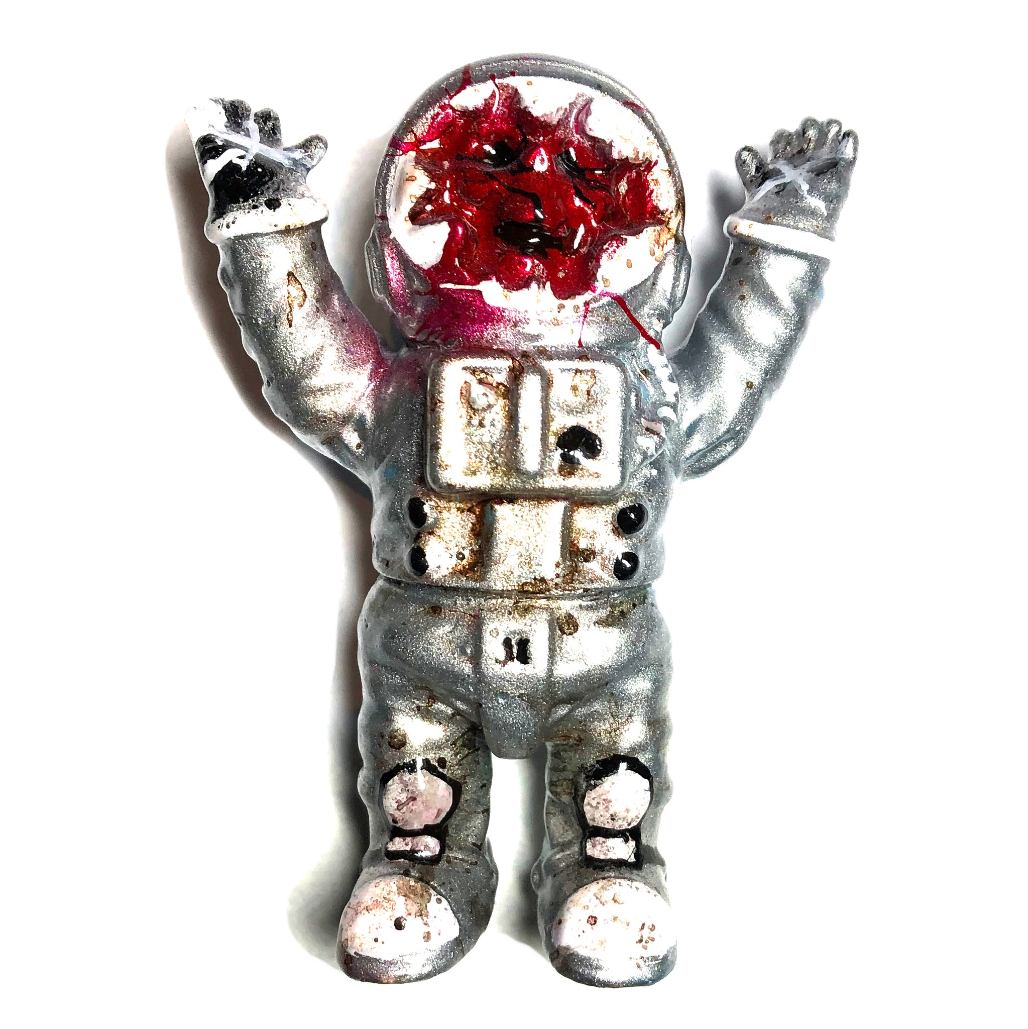 Dead Astronaut Sofubi by Mad Monk Custom Painted AEQEA Edit Space Man Designer Toy Figure