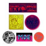 Million Dollar Extreme MDE Sticka_Pack_1 (6 Stickers, 1 Art Print)
