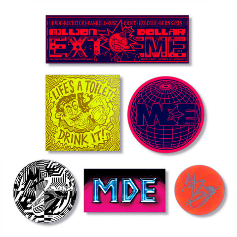 Million Dollar Extreme MDE Sticka_Pack_1 (6 Stickers, 1 Photo Print)