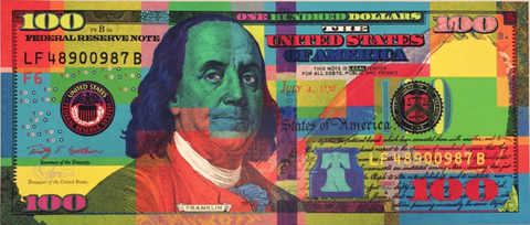 Mister E Authentic Benny Bill $100 Fake Money Street Art Print