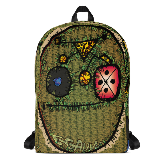 Egauw Temple of Tears Caricature Backpack