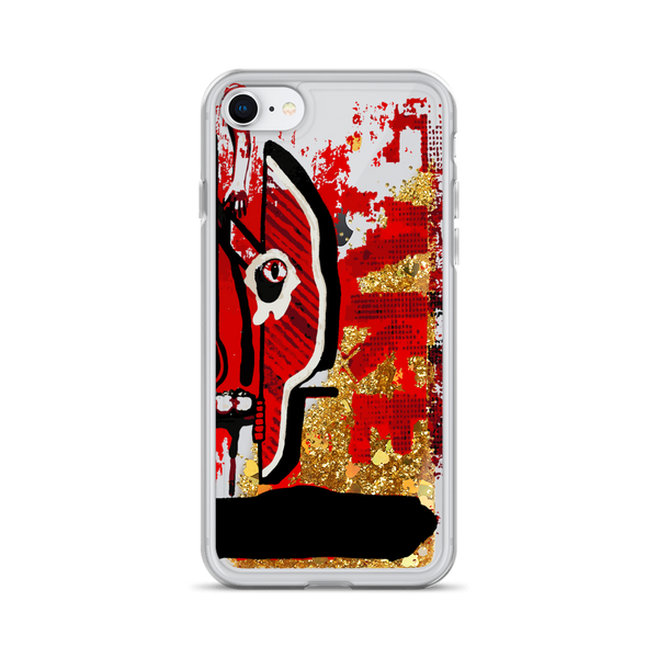 Kiss Me, Kill Me Liquid Glitter iPhone Case