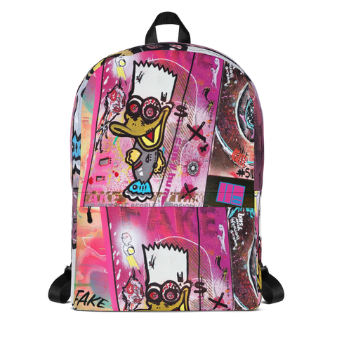 AEQEA Brat Quack Fake Graffiti Streetwear Backpack