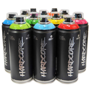 MTN HARDCORE 2 Spray Paint Colors (Set of 12 Cans)