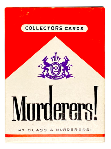 MURDERERS Complete Set of 40 Class A Murderers Collector's Trading Cards